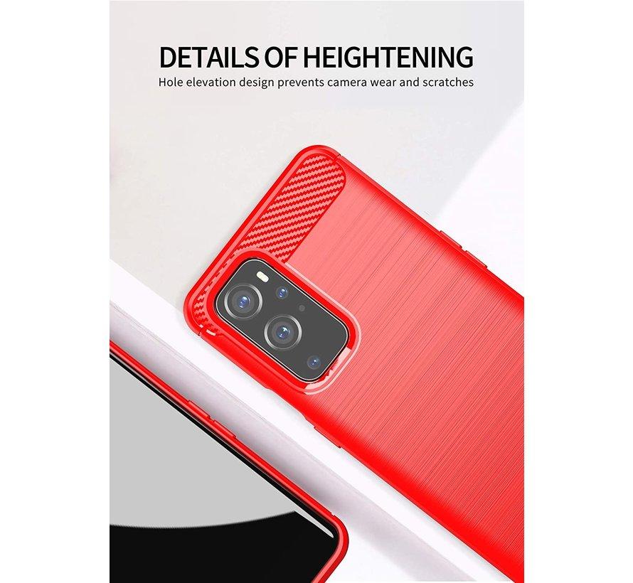 OnePlus 9 Gehäuse gebürstet Carbon Red