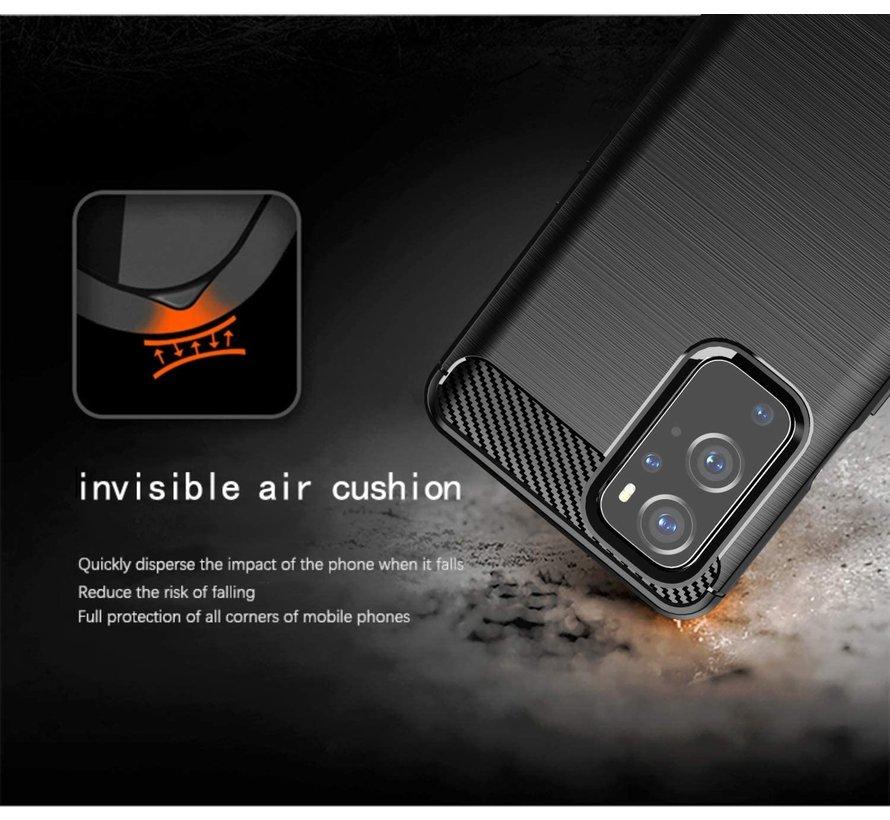 OnePlus 9 Hoesje Brushed Carbon Zwart