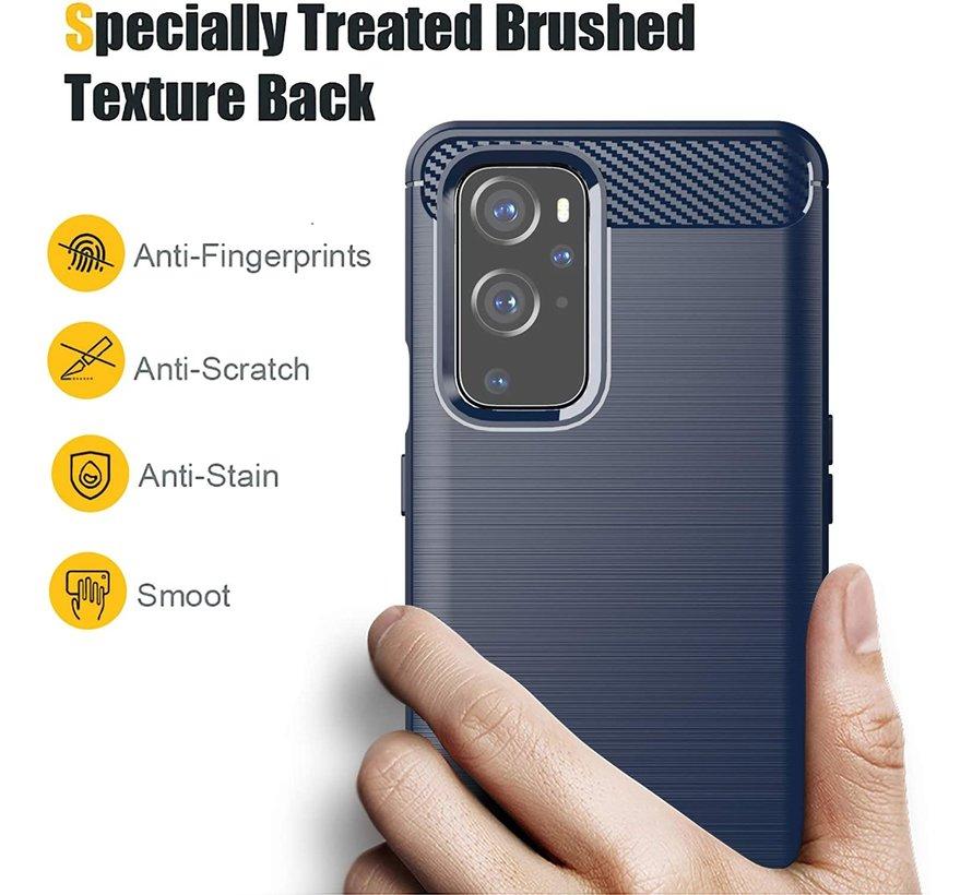 OnePlus 9 Case Gebürstetes Carbonblau