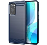 OPPRO OnePlus 9 Case Gebürstetes Carbonblau
