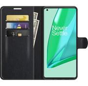OPPRO OnePlus 9 Pro Wallet Flip Case Zwart