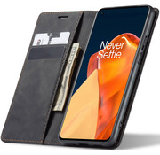 OPPRO OnePlus 9 Wallet Case Vintage Leather Black
