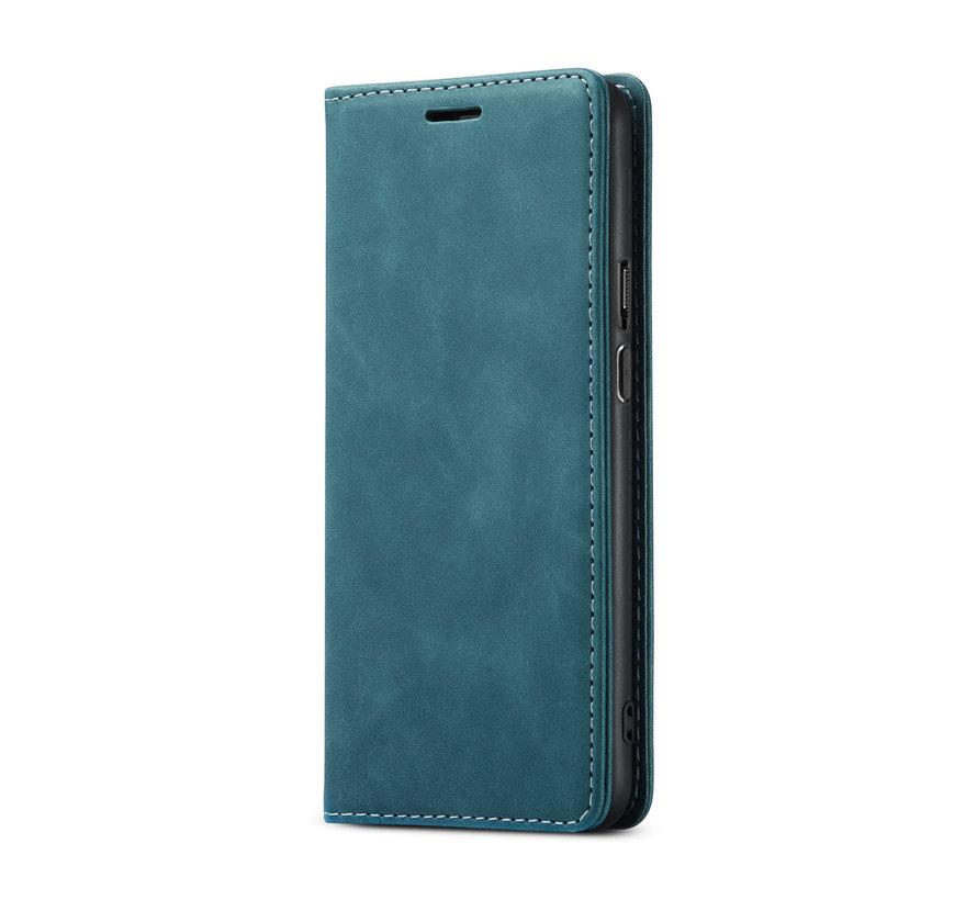 OnePlus 9 Wallet Hoesje Vintage Leder Blauw