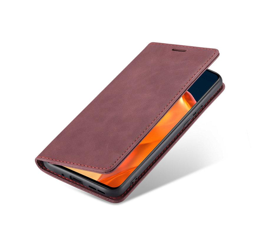 OnePlus 9 Brieftasche Vintage Leder Rot