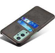 OPPRO OnePlus 9 Case Slim Leder Kartenhalter Schwarz
