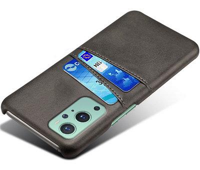 OPPRO OnePlus 9 Hoesje Slim Leder Kaarthouder Zwart