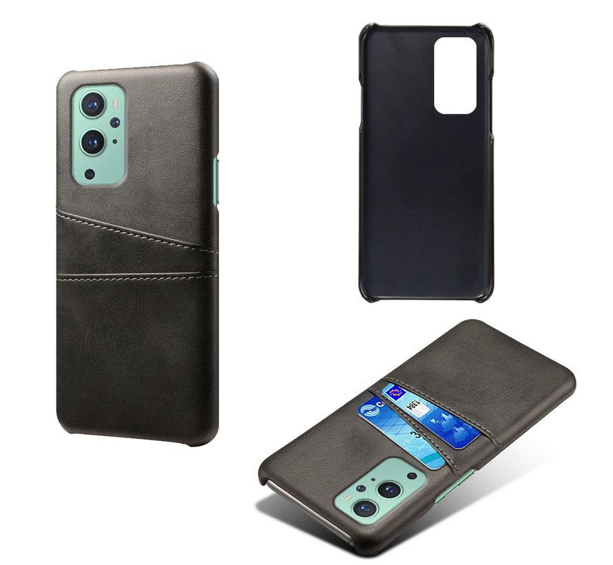OnePlus 9 Case Slim Leder Kartenhalter Schwarz