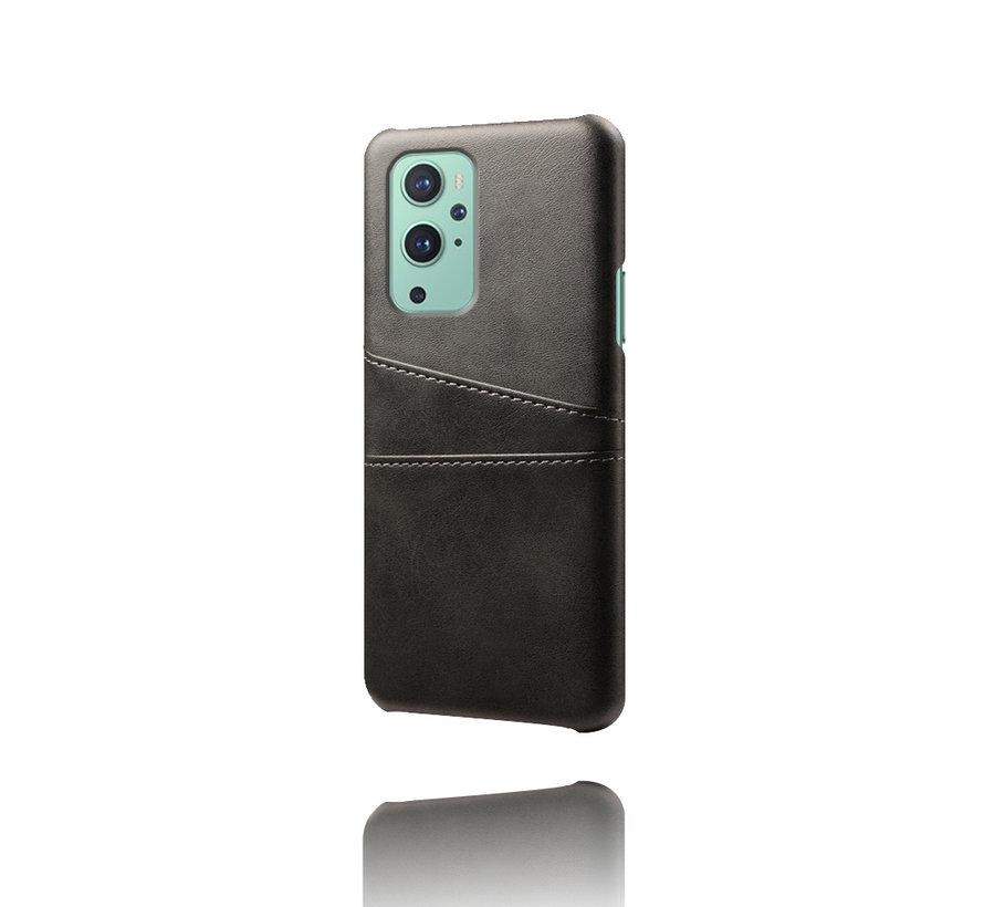 OnePlus 9 Hoesje Slim Leder Kaarthouder Zwart