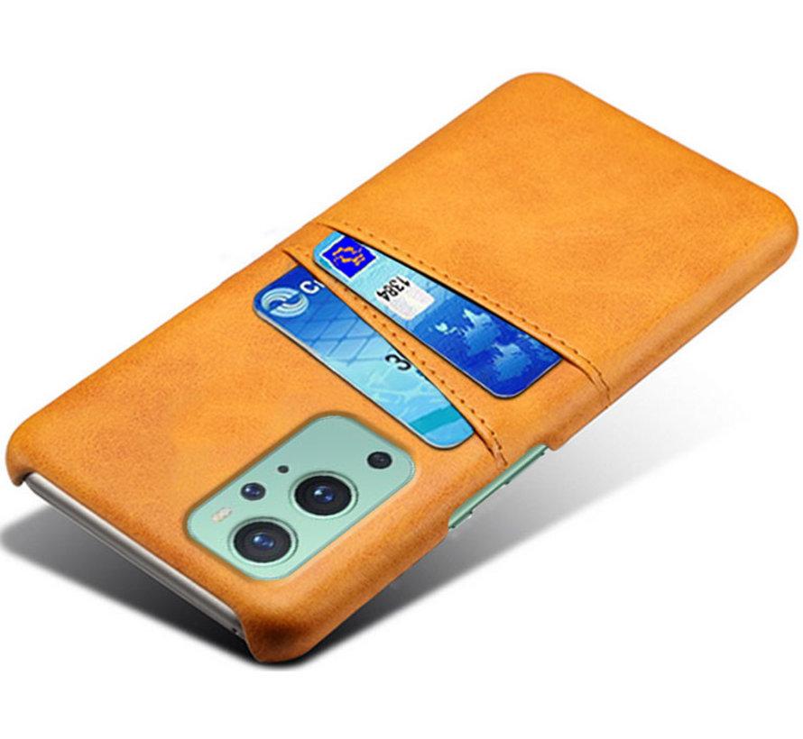OnePlus 9 Hoesje Slim Leder Kaarthouder Cognac