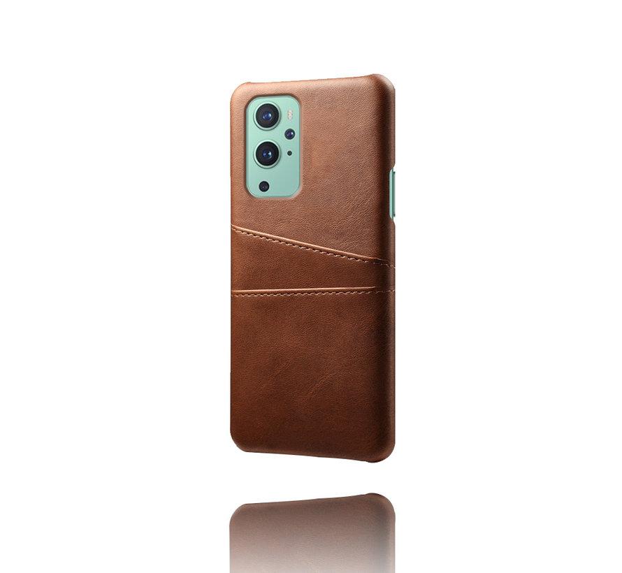OnePlus 9 Hoesje Slim Leder Kaarthouder Bruin