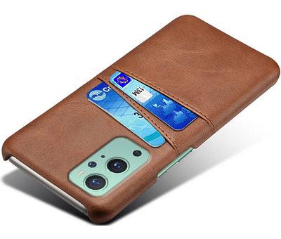 OPPRO OnePlus 9 Case Slim Leder Kartenhalter Braun