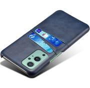 OPPRO OnePlus 9 Case Slim Leder Kartenhalter Blau