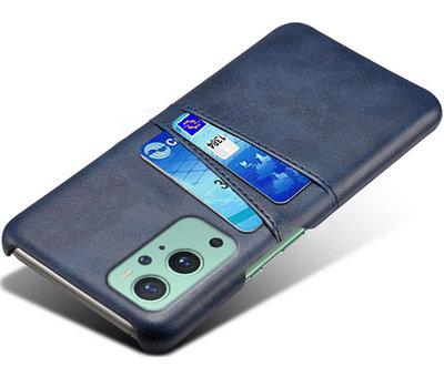 OPPRO OnePlus 9 Hoesje Slim Leder Kaarthouder Blauw