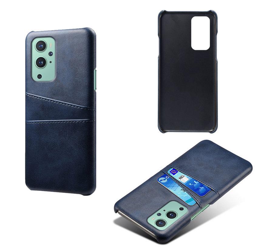OnePlus 9 Case Slim Leder Kartenhalter Blau