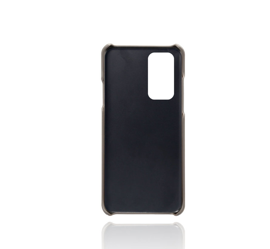 OnePlus 9 Hoesje Slim Leder Kaarthouder Grijs