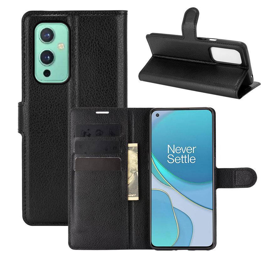 OnePlus 9 Wallet Flip Case Schwarz