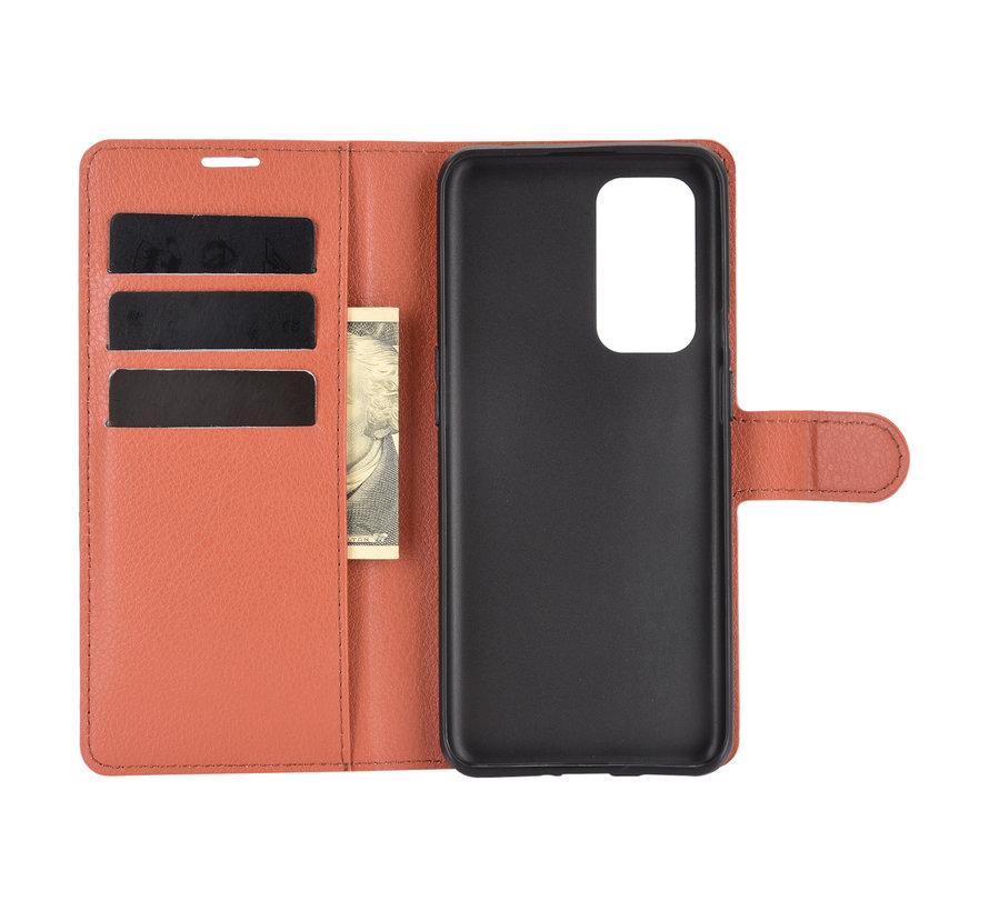 OnePlus 9 Wallet Flip Case Braun