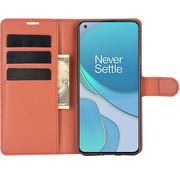 OPPRO OnePlus 9 Wallet Flip Case Bruin