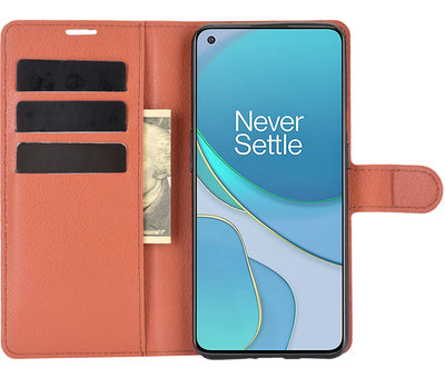 OPPRO OnePlus 9 Wallet Flip Case Braun