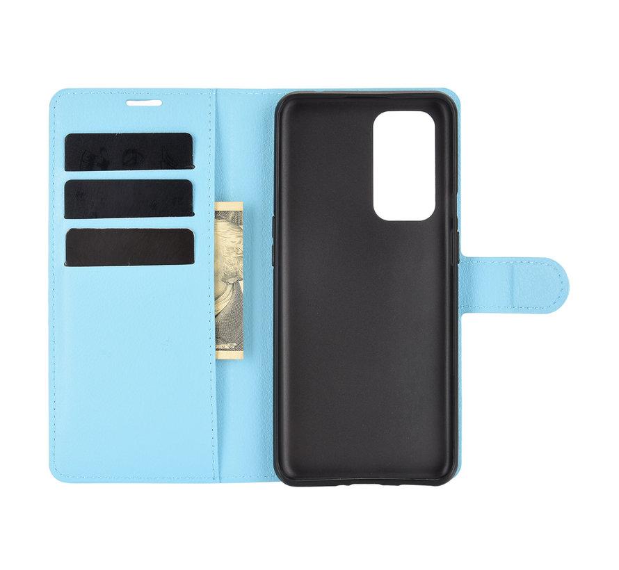 OnePlus 9 Wallet Flip Case Blauw