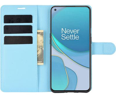 OPPRO OnePlus 9 Wallet Flip Case Blauw