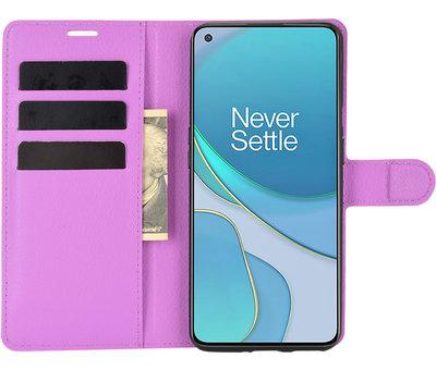 OPPRO OnePlus 9 Wallet Flip Case Lila