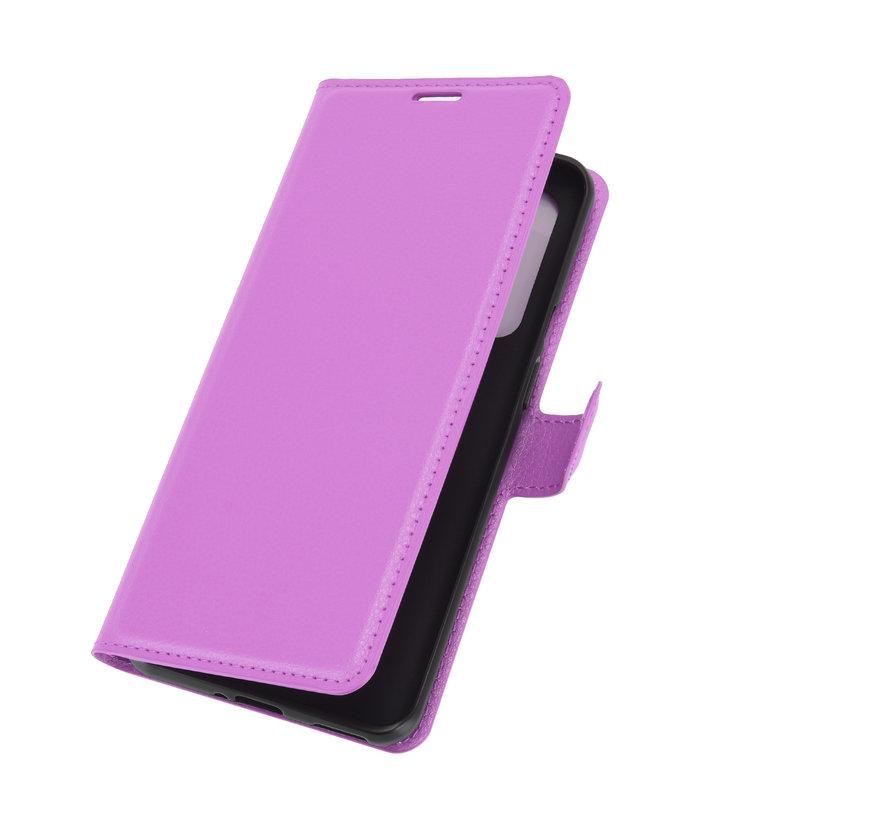 OnePlus 9 Wallet Flip Case Paars