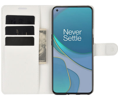 OPPRO OnePlus 9 Wallet Flip Case Weiß