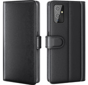 OPPRO OnePlus 9 Wallet Case Genuine Leather Black