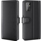 OPPRO OnePlus 9 Wallet Hoesje Echt Leder Zwart