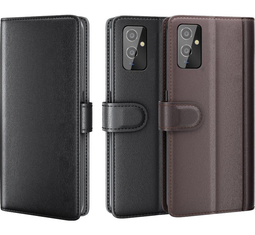 OnePlus 9 Brieftasche Etui Echtes Leder Braun