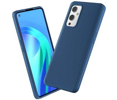 OPPRO OnePlus 9 Hoesje Liquid Silicone Blauw