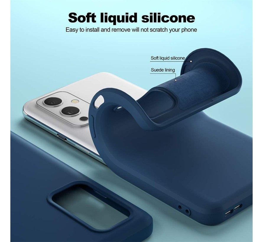 OnePlus 9 Hoesje Liquid Silicone Blauw