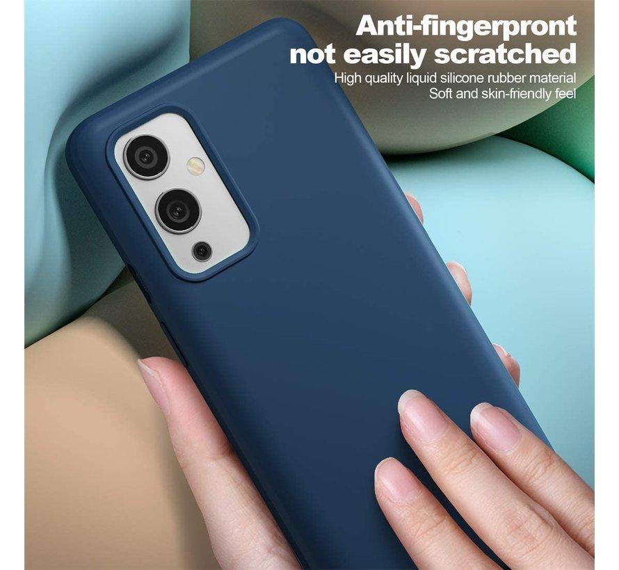 OnePlus 9 Case Flüssiges Silikonblau