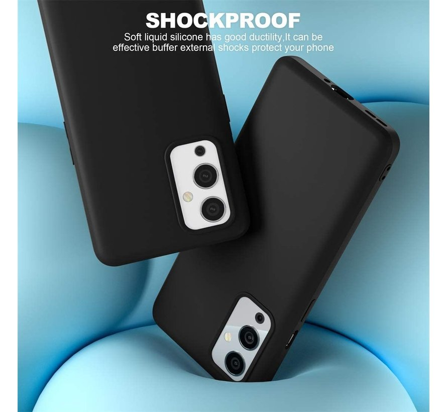 OnePlus 9 Hoesje Liquid Silicone Zwart