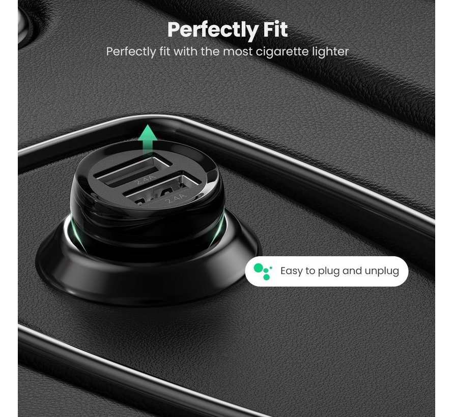 Car charger 2x 24W 4.8A OnePlus