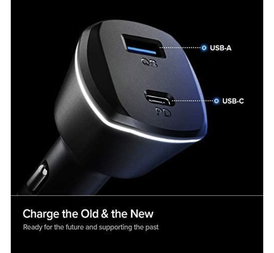 Car charger OnePlus Quick Charge 3.0 and PD 30W USB C