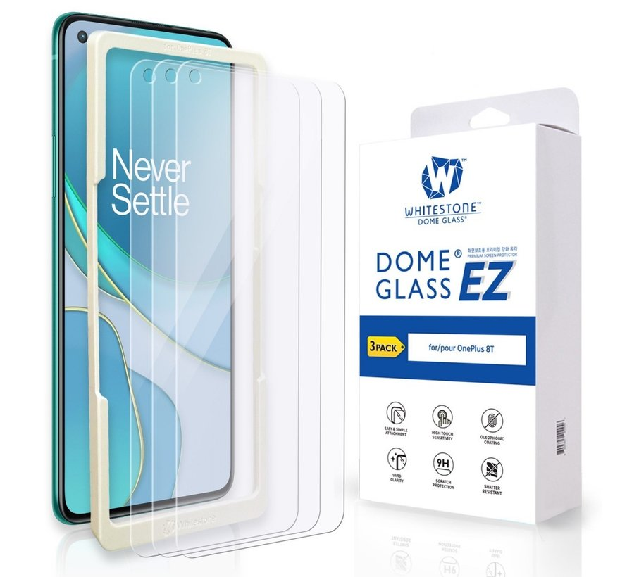 OnePlus 8T EZ Tempered Glass Screen Protector (3 st.)