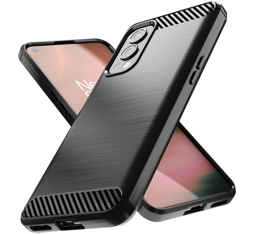 OnePlus Nord 2 Hoesje Brushed Carbon Zwart