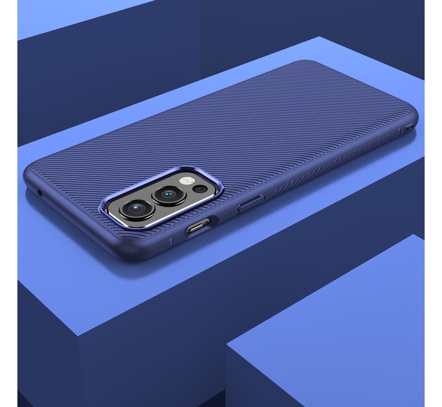 OnePlus Nord 2 Case TPU GripLine Blau