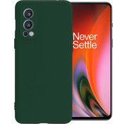 OPPRO OnePlus Nord 2 Case Flüssiges Silikongrün