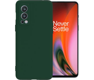 OPPRO OnePlus Nord 2 Hoesje Liquid Silicone Groen