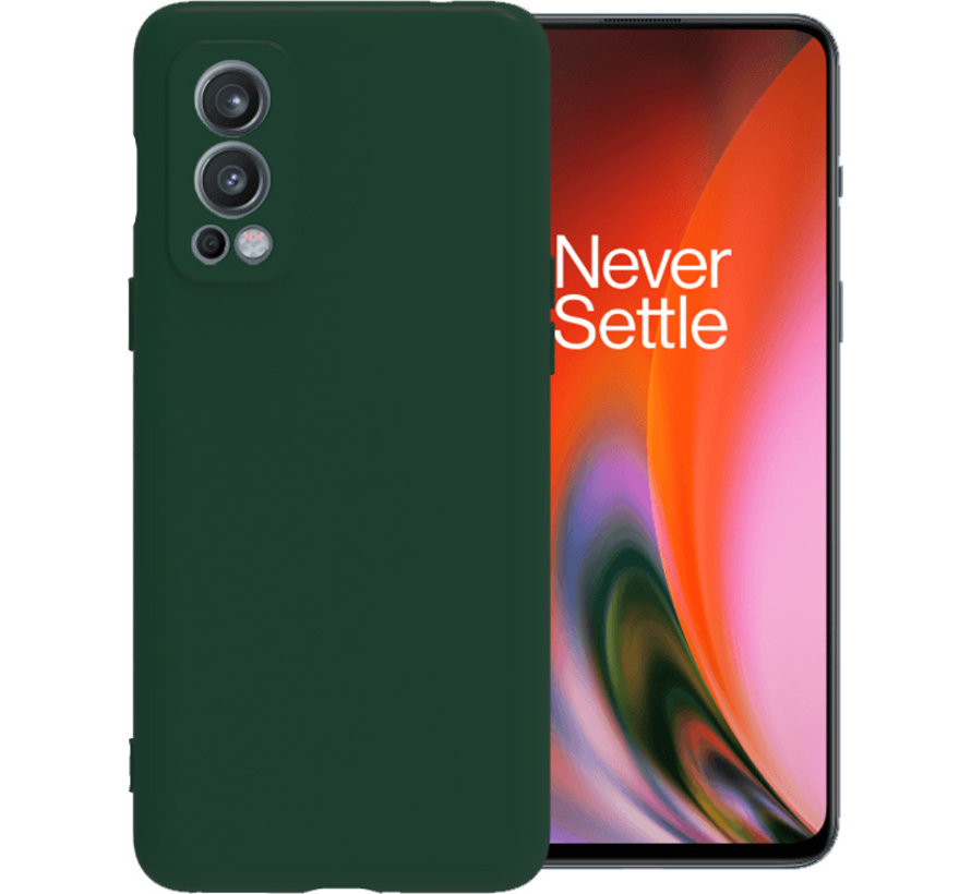OnePlus Nord 2 Case Flüssiges Silikongrün