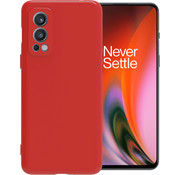 OPPRO OnePlus Nord 2 Case Flüssiges Silikonrot