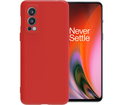 OPPRO OnePlus Nord 2 Hoesje Liquid Silicone Rood