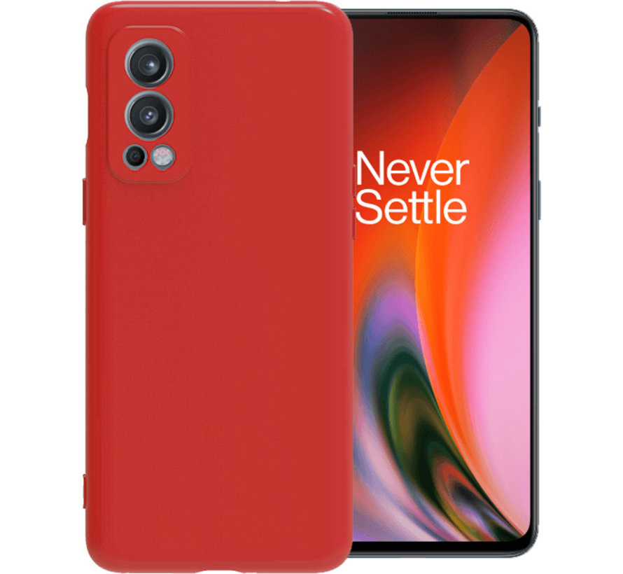 OnePlus Nord 2 Hoesje Liquid Silicone Rood
