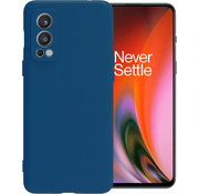 OPPRO OnePlus Nord 2 Hoesje Liquid Silicone Blauw