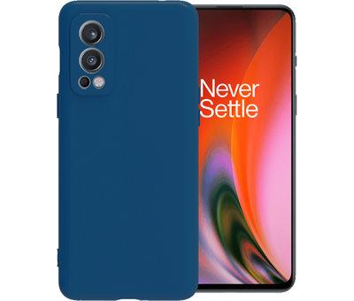 OPPRO OnePlus Nord 2 Case Flüssiges Silikonblau