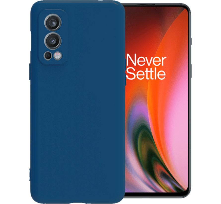 OnePlus Nord 2 Case Flüssiges Silikonblau