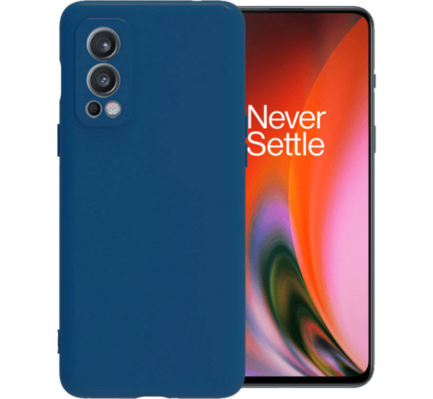 OnePlus Nord 2 Hoesje Liquid Silicone Blauw